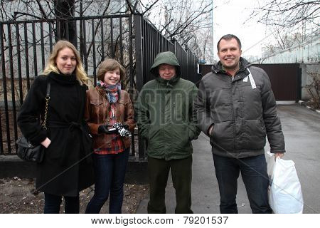 The Politician Nikolay Lyaskin Who Is Just Released From Under Arrest Is Photographed Against Prison