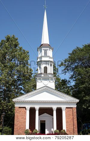Small church with steeple
