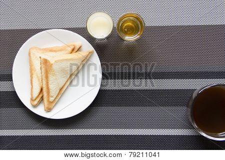 Easy Breakfast With Black Coffee