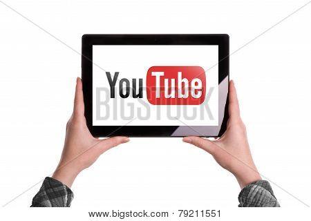Youtube Logo On Digital Tablet