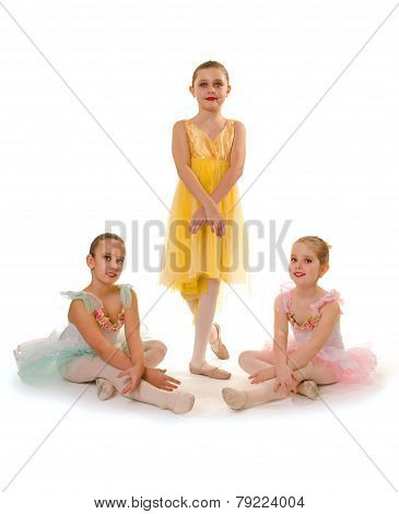 Ballet Dance Girls Trio