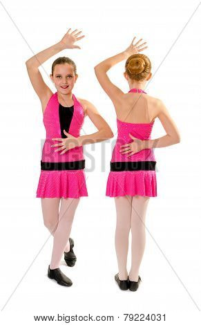 Preteen Jazz Dance Duo