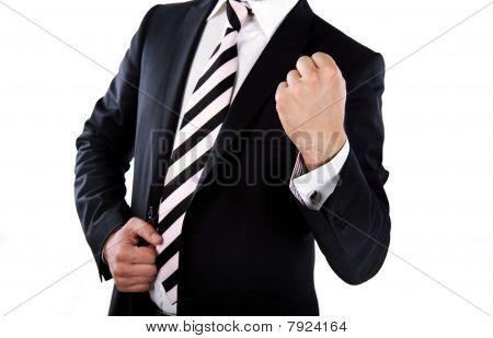 businessman's victory