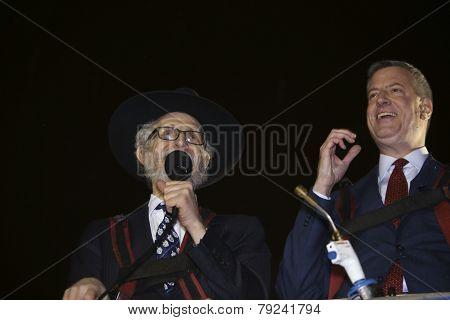Mayor De Blasio & Rabbi Hecht