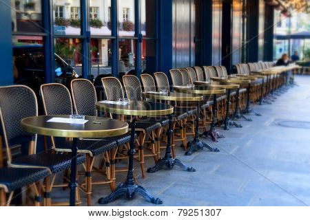 Street cafe tables