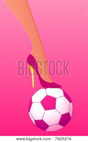 female High heel soccer