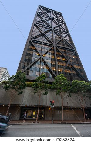 San Francisco, Us - Oct 3, 2012: Office Tower One Maritime Plaza In San Francisco On Oct 3, 2012. It