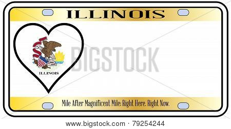 Illinois State License Plate