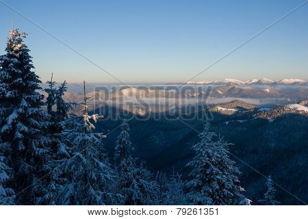 Sunrise In Winter Mountains - Greater Fatra, Slovakia