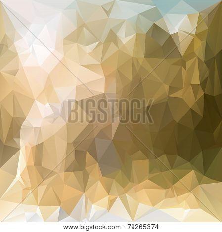 Vector Polygonal Background - Triangular Design In Desert Sand