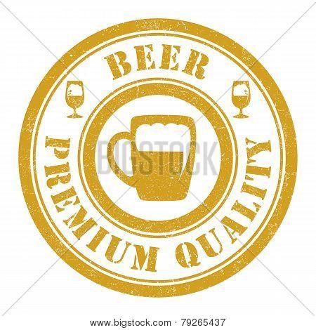 Beer round stamp