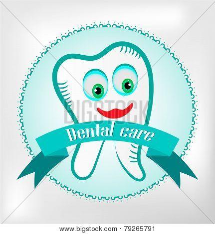 Teeth on bright background