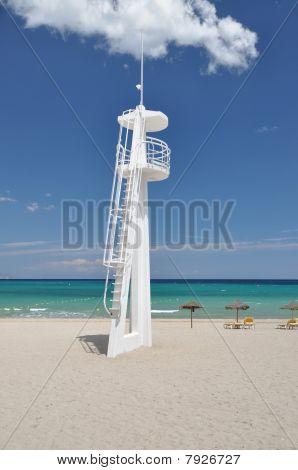 Tranquil beach on Mediterranean Sea