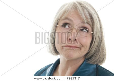 Mature Woman Making A Face