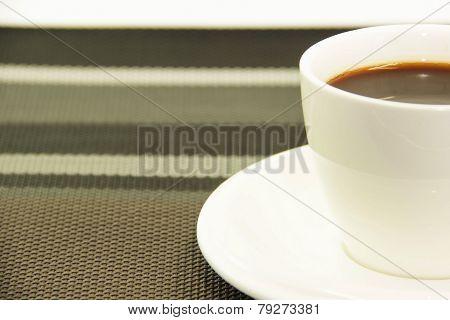 Half Coffee On Pattern Napery