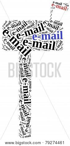 E-mail Or Electronic Communication Concept.