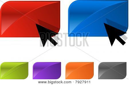 Vector glossy button for web design.