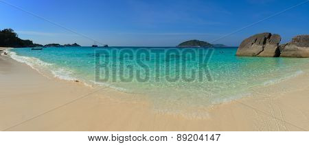 Beautiful Tropical Beach In The Similan Islands Of Thailand, Southeast Asia