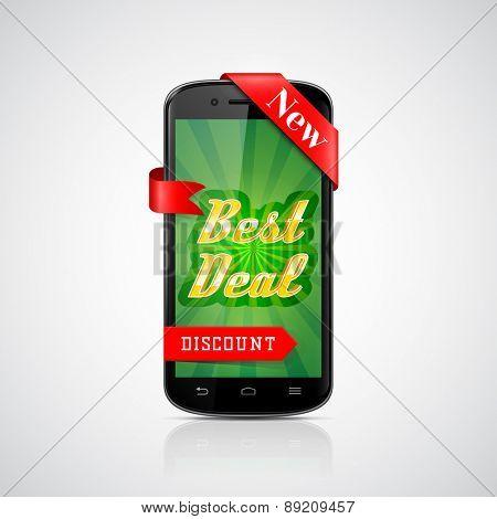 Best Deal Banner. Smartphone Offer. Vector Design