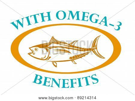 With Omega-3 Benefits Tuna Fish Outline Art