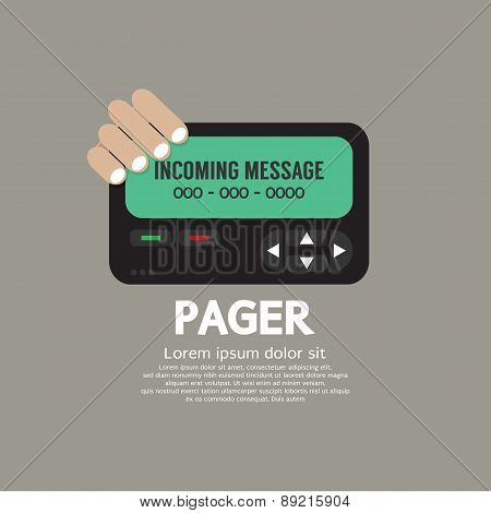 Pager The Old Wireless Telecommunication Technology.