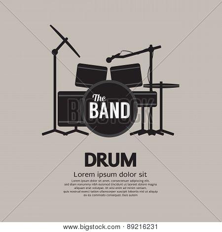Drum Set Music Instrument.