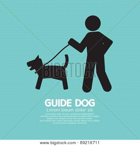 Guide Dog Graphic Black Symbol Vector Illustration. EPS 10 poster