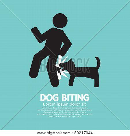 Dog Biting Symbol.