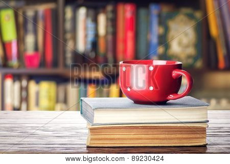 Book And Red Cup