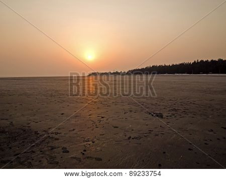 The Lonely Beach Sunset