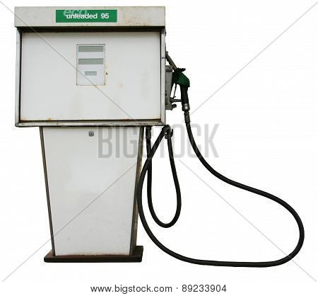 Petrol Pump on white backround with clipping path