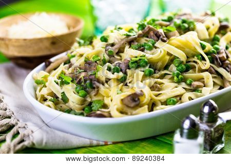 Fettuccine With Mushrooms