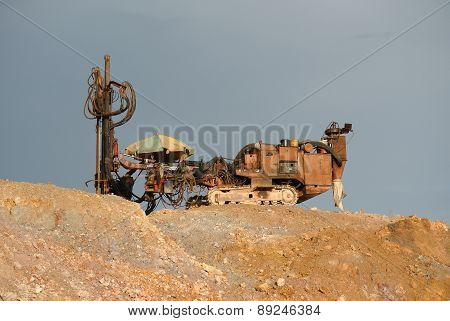 Old macintosh probe machine at construction site