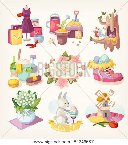 Spring Card Elements