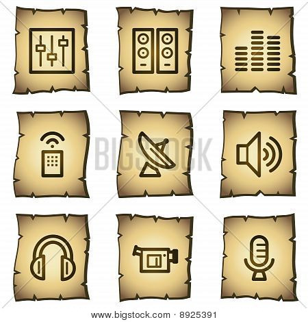 Media Web Icons, Papyrus Series
