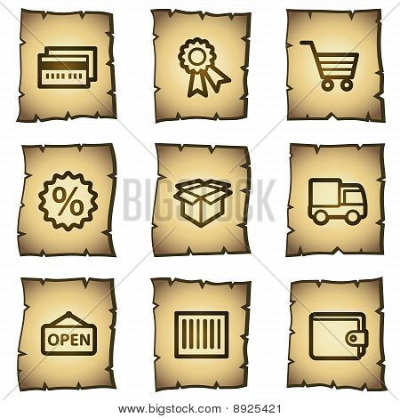 Shopping Web Icons, Papyrus Series