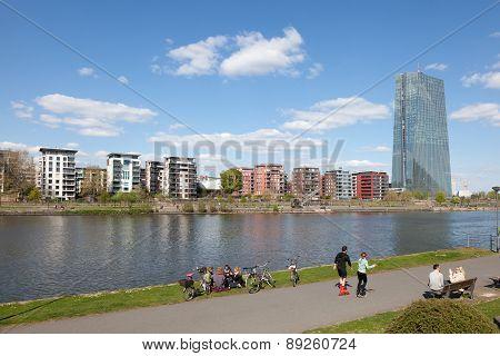 Riverwalk in Frankfurt Main, Germany