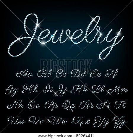 Vector jewelry alphabet.