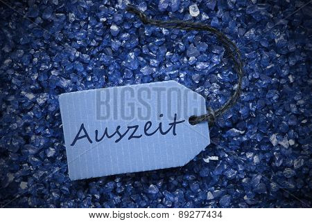 Purple Stones With Label Auszeit Means Downtime