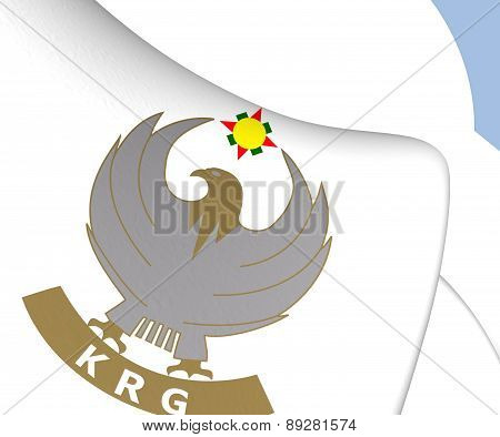 Kurdistan Regional Government 3D Emblem. Close Up. poster