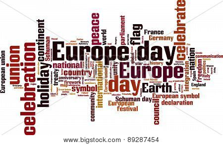 Europe Day Word Cloud