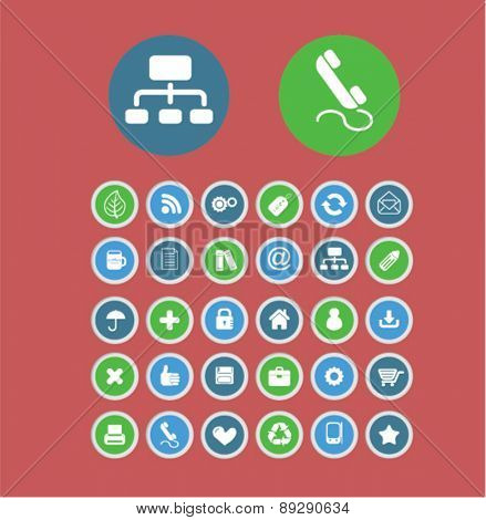 presentation, application, smartphone, interface isolated icons, signs, illustrations website, internet mobile design concept set, vector