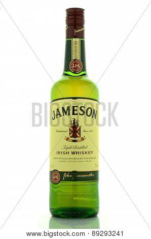 Jameson whiskey isolated on white background