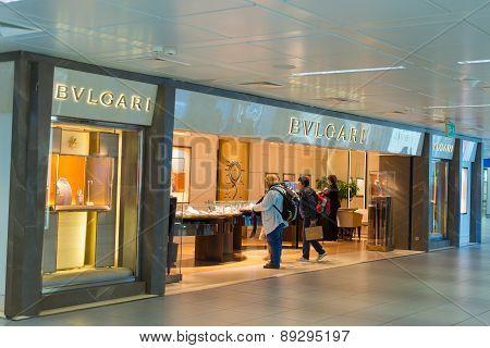 Bulgari Store At Fiumicino Airport In Rome