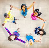 Children Kids Cheerful Unity Diversity Concept poster