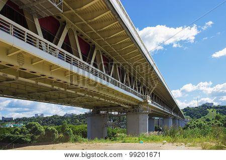 Metro Bridge In Nizhny Novgorod, Russia