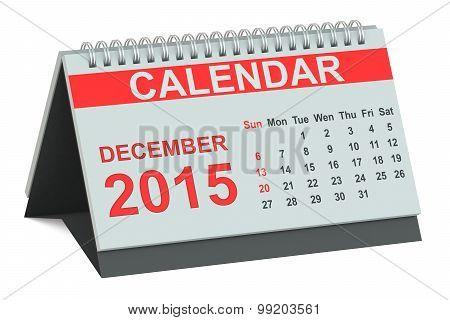 December 2015, Desk Calendar