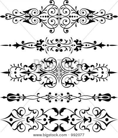 Element für Design, Ecke Blume, Vektor