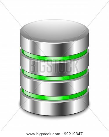 Database Icon. Vector