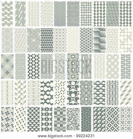 50 Geometric Seamless Pattern Set.